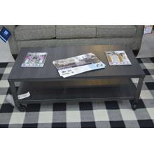 Product Image - Ashley Furniture all metal wheeled cocktail table.