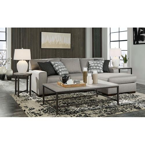 Marsing - Nuvella - 2-Piece Sectional with     Right Facing Chaise