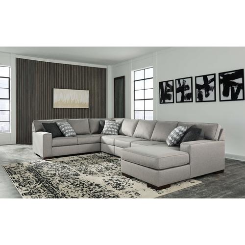Marsing - Nuvella - 5-Piece Sectional with Right Facing Chaise