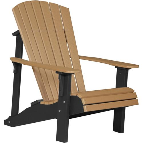 Deluxe Adirondack Chair Cedar and Black