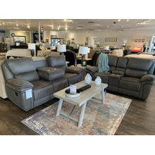 See Details - Generation Trade Lariat Grey Reclining Sofa and Loveseat