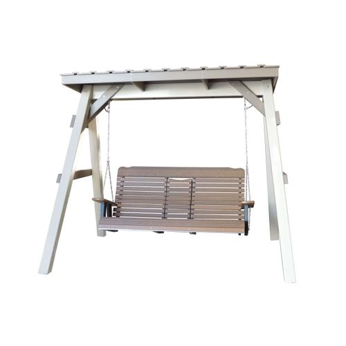 Outdoor Furniture - A-Frame W/Roof & 5' Settee Swing
