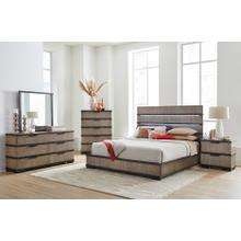 LIFESTYLE C8449AQPT C8449A-QXG C8449A-BXN C8449A-045 C8449A-050 Brock Forge 3-Piece Bedroom Group - Platform Bed Queen Bed, Dresser & Mirror