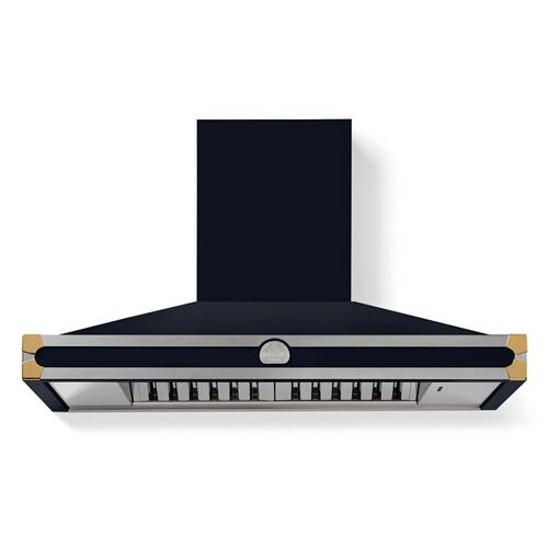 Lacornue Cornufe - Dark Navy Blue Cornufe 110 Hood with Polished Brass Accents