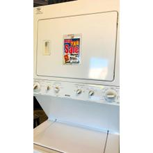 USED- Stackable Laundry Unit Combination Washer/Gas Dryer- STACKG27KEN   SERIAL #5