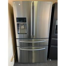 28 cu. ft. 4-Door French Door Refrigerator in Stainless Steel (This is a Stock Photo, actual unit (s) appearance may contain cosmetic blemishes. Please call store if you would like actual pictures). This unit carries our 6 month warranty, MANUFACTURER WARRANTY and REBATE NOT VALID with this item. ISI 37952 B