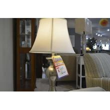 Ashley Furniture silver table lamp.