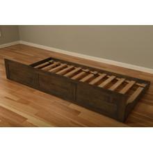See Details - Boho Rustic Walnut Trundle Bed