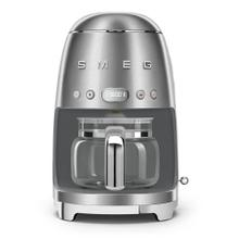Smeg 50s Retro Style Design Aesthetic Coffee Machine, Stainless Steel