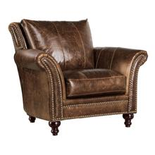 See Details - 2239 Butler Chair 5507 Brown (100%op Grain Leather)