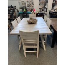 5 Piece Modern Rustic Dining Set