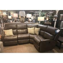 4-piece leather reclining sectional