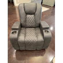 Glider Recliner w/ Cupholders- Grey