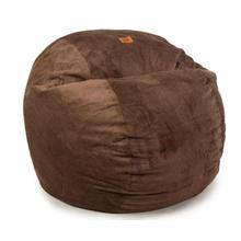CONVERTIBLE ESPRESSO QUEEN BEAN BAG CHAIR