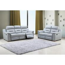 See Details - 9408 - Gray Leather Gel - 2-Piece Sofa and Loveseat