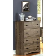 4 Drawer Chest Weathered Gray Ash