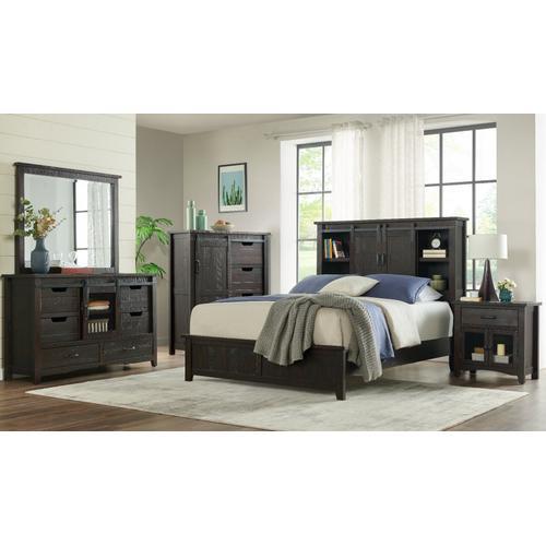 Modern Western King Storage Bed
