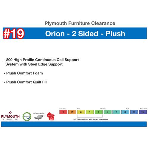 Orion 2 Sided Plush Mattress