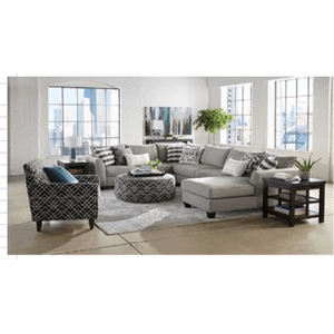 PP28-33L/26R/29  SECTIONAL, 260 Chair, 240 Chair, 702 Chair & Ottoman - Popstitch Pebble