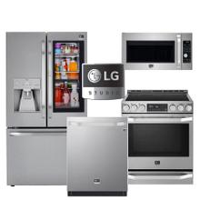 See Details - Ultra Premium LG Studio Kitchen Package with Fingerprint Resistant Stainless Steel Finish & Craft Ice Refrigerator - Before $1,000 Rebate