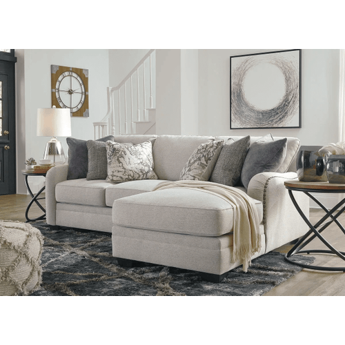 Dellara - Chalk - 2-Piece Sectional with Right Facing Chaise