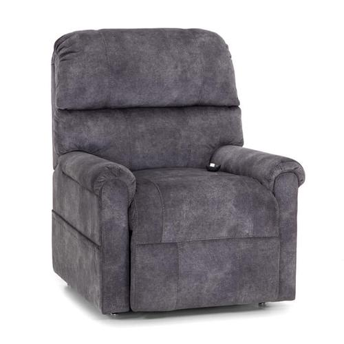 Sinclair 3-Way Chaise Lift Recliner w/Magazine Pouch in Abner Lead Fabric