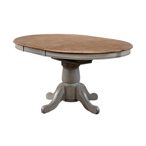 """57"""" Pedestal Table with 15"""" Butterfly Leaf"""