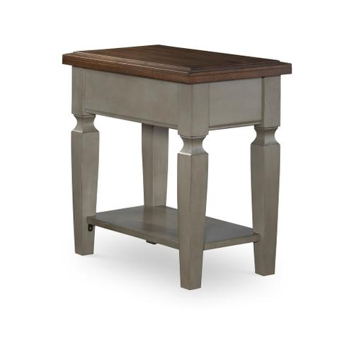 Vista Side Table in Hickory and Coal
