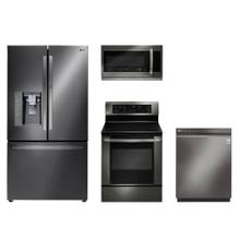 4-Piece Black Stainless Steel Bundle Package