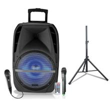 "15"" PA Speaker, LED Party Light, Bluetooth, Tripod and Microphone Included"