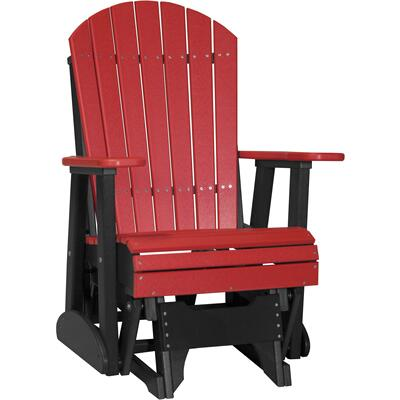 Adirondack Glider 2' Red and Black
