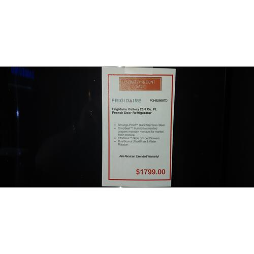 SCRATCH & DENT FRIGIDAIRE GALLERY 26.8  cu. ft. FRENCH DOOR REFRIGERATOR