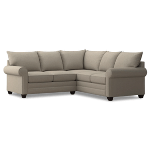 Alex Roll Arm Small Sectional - Straw