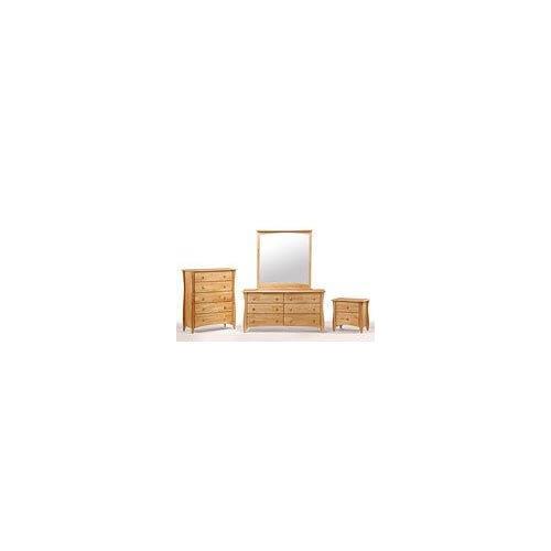 Clove 6 Drawer Dresser Natural Finish