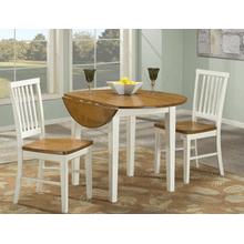 Arlington Slat Back Side Chair - White and Java