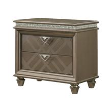 See Details - Cristal 2 Drawer Night Stand
