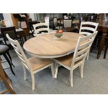 WO Burlap 5 Piece Dining Set