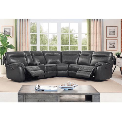 New Classic Furniture - 6-Piece Atlas Saxton Grey Sectional
