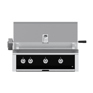 "Aspire By Hestan 36"" Built-In U-Burner, Sear and Rotisserie Grill NG Stealth Black"