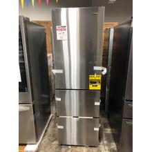See Details - Galanz 12.4-Cu. Ft. 3-Door Bottom Mount Refrigerator in Stainless Steel **OPEN BOX ITEM** West Des Moines Location