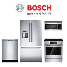 Bosch 4-piece kitchen package. Price Valid Thru 8/31/20.