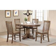 """57"""" Round Table with 4 Side Chairs"""