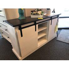 Entertainment Console Weathered Creme/Charcoal