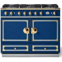 Royal Blue Cornue 110 with Polished Brass Accents