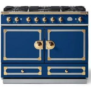 Lacornue Cornufe - Royal Blue Cornue 110 with Polished Brass Accents