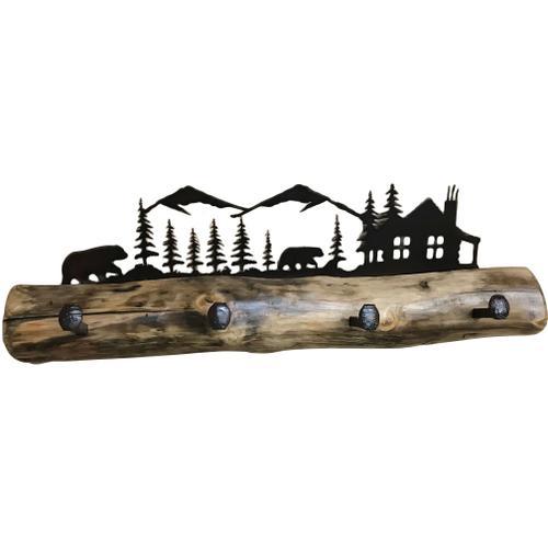 Log Coat Rack