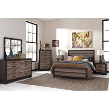 View Product - Harlinton - Warm Gray/Charcoal 4 Piece Bed Set (Queen)