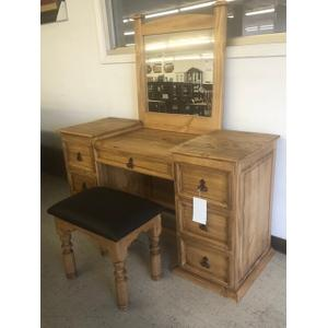 L.M.T. Rustic and Western Imports - VANITY WITH STOOL