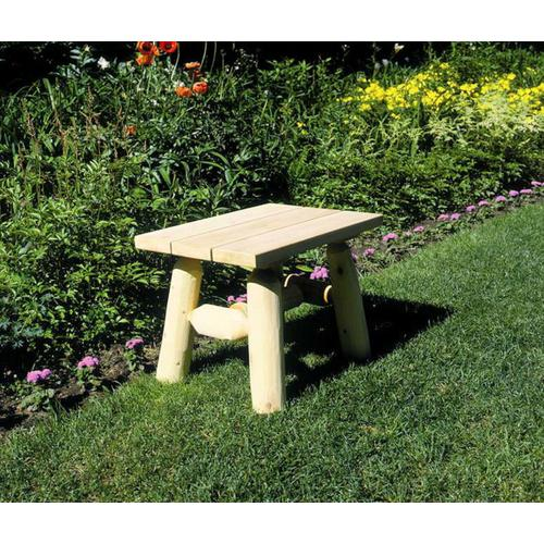 Log End Table