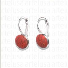 Small red earrings